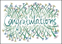 Congratulations - A6 Card  (C) www.lindisfarne-scriptorium.co.uk 2017