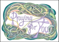 Praying for You - A4 Print  (C) www.lindisfarne-scriptorium.co.uk 2018