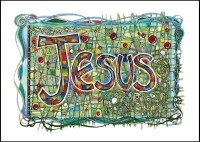 Jesus - Art Large Postcard
