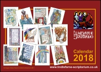 *2018* Scriptorium Art Calendar - Offer £7.00 ea (C) www.lindisfarne-scriptorium.co.uk 2017