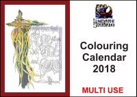 *2018* Downloadable Colouring Calendar - Multi Use (C) www.lindisfarne-scriptorium.co.uk 2017