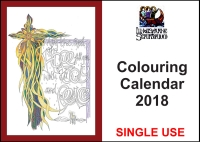 *2018* Downloadable Colouring Calendar - Single Use (C) www.lindisfarne-scriptorium.co.uk 2017