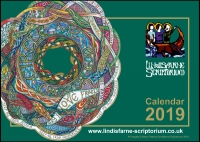 *2019* Scriptorium Art Calendar - Offer £9.00 ea (C) www.lindisfarne-scriptorium.co.uk 2017