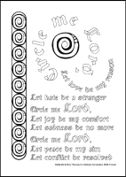 Circle Me - Multicoloured Prayers - Large PVC Colouring Image