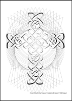 Cross Infinity - Multicoloured Prayers - Large PVC Colouring Image