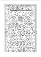 Glory to God - Multicoloured Prayers - Large PVC Colouring Image