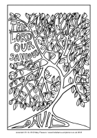 01 - First Sunday Advent - Jeremiah 33 14-16 - Downloadable / Printable Colouring Sheet