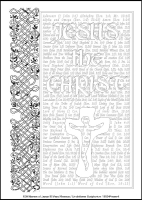 100 Names of Jesus - Multicoloured Meditations - Large PVC Colouring Image