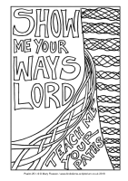 02 - First Sunday Advent - Psalm 25 1-9 - Downloadable / Printable Colouring Sheet