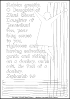 Daughter of Zion - Multicoloured Meditations - Downloadable / Printable - Colouring Sheet