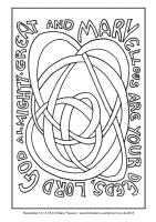 06 - First Sunday Advent - Rev 14.13-15.4 - Downloadable / Printable Colouring Sheet
