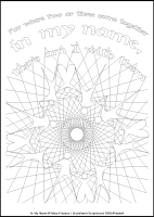 In My Name - Multicoloured Meditations - Downloadable / Printable - Colouring Sheet