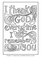 09 - Second Sunday Advent - Philippians 1.3-11 - Downloadable / Printable Colouring Sheet