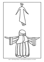 12 - Second Sunday Advent - Luke 1.1-25 - Downloadable / Printable Colouring Sheet