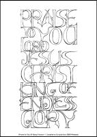 Praise to You - Multicoloured Meditations - Large PVC Colouring Image