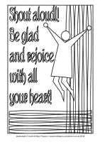 13 - Third Sunday Advent - Zephaniah 3.14-20 - Downloadable / Printable Colouring Sheet