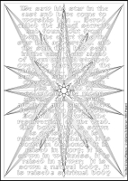 The Star - Multicoloured Meditations - Large PVC Colouring Image