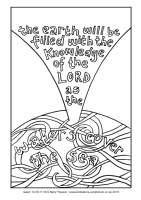 24 - Fourth Sunday Advent - Isaiah 10.33-11.10 - Downloadable / Printable Colouring Sheet