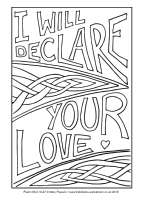 27 - Christmas Eve - Psalm 89.2,19-27 - Downloadable / Printable Colouring Sheet