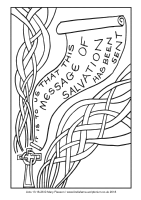 28 - Christmas Eve - Acts 13.16-26 - Downloadable / Printable Colouring Sheet