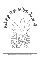 34 - Christmas Day - Psalm 98 - Downloadable / Printable Colouring Sheet