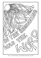 36 - Christmas Day - John 1.1-14 - Downloadable / Printable Colouring Sheet
