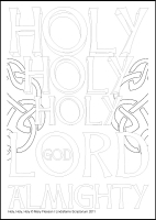 Holy, Holy, Holy - Multicoloured Contemplations - Downloadable / Printable - Colouring Sheet