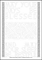 Blessed Days - Multicoloured Contemplations - Large PVC Colouring Image