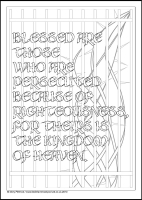 Blessed are those who are persecuted - Multicoloured Blessings - Downloadable / Printable - Colouring Sheet