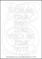 Teach Me - Multicoloured Seasons - Large PVC Colouring Image