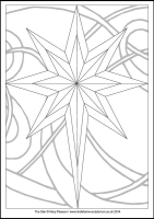 The Star - Multicoloured Christmas - Downloadable / Printable - Colouring Sheet