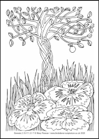 13 Lenten 2020 - Genesis 2.15-17; 3.1-7 - Colouring Sheet - The First Sunday of Lent