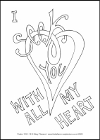 19 Lenten 2020 - Psalm 119.1-16 - Colouring Sheet - The First Sunday of Lent