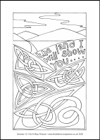 21 Lenten 2020 - Genesis 12.1-4a - Colouring Sheet - The Second Sunday of Lent