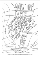 46 Lenten 2020 - Psalm 130  - Colouring Sheet - The Fifth Sunday of Lent