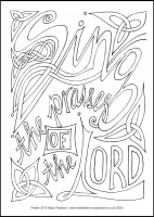49 Lenten 2020 - Psalm 30- Colouring Sheet - The Fifth Sunday of Lent