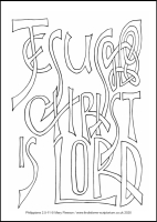 55 Lenten 2020 - Philippians 2.5-11 - Colouring Sheet - Palm Sunday