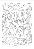 61 Lenten 2020 - Psalm 41 - Colouring Sheet - Monday of Holy Week