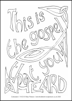 64 Lenten 2020 - Colossians 1.18-23 - Colouring Sheet - Monday of Holy Week