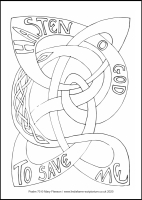 65 Lenten 2020 - Psalm 70 - Colouring Sheet - Tuesday & Wednesday of Holy Week