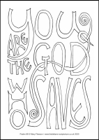 69 Lenten 2020 - Psalm 88 - Colouring Sheet - Tuesday & Wednesday of Holy Week