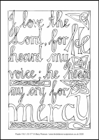 71 Lenten 2020 - Psalm 116.1,10-17 - Colouring Sheet - Maundy Thursday