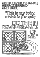 72 Lenten 2020 - 1 Corinthians 11.23-26 - Colouring Sheet - Maundy Thursday