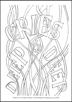 75 Lenten 2020 - Psalms 42, 43 - Colouring Sheet - Maundy Thursday