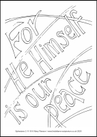 76 Lenten 2020 - Ephesians 2.11-18 -  Colouring Sheet - Maundy Thursday