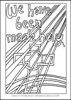 80 Lenten 2020 - Hebrews 10.1-10-  Colouring Sheet - Good Friday