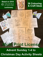 Advent Activity Sheets - A4 Digital Files - Multi Print License
