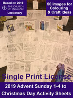 Advent 2019 Activity Sheets - A4 Digital Files - Single Print License (C) www.lindisfarne-scriptorium.co.uk 2018