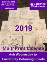 Lenten 2019 Colouring Worksheets - A4 Digital Files - Multi Print License