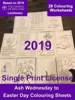 Lenten 2019 Colouring Worksheets - A4 Digital Files - Single Print License